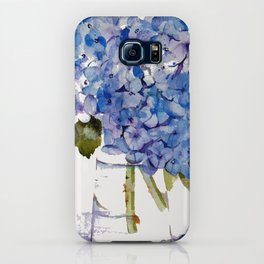 Hydrangea painting iPhone Case