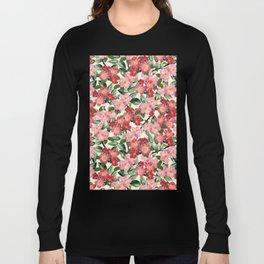 Wild Roses - Seamless Pattern Long Sleeve T-shirt