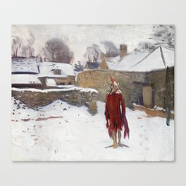 John Singer Sargent, Mannikin in the Snow,1891 Canvas Print