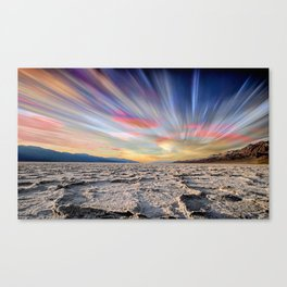 Stopping Time : Colorful Sky Landscape Canvas Print