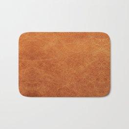 Farmhouse Style Original Camel Leather Oriental Design. Bath Mat