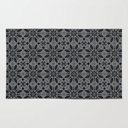 Sharkskin Floral Pattern Rug
