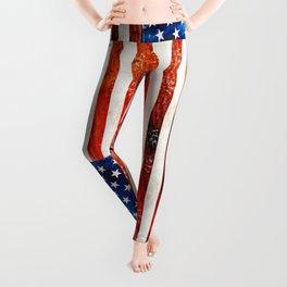 American Flag Art - Old Glory - By Sharon Cummings Leggings