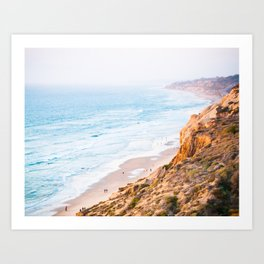Cliffs at Torrey Pines Reserve Fine Art Print Art Print