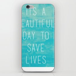 Grey's Anatomy McDreamy Quote iPhone Skin
