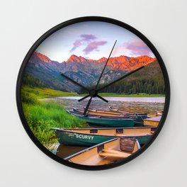 Piney Lake Wall Clock