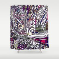 champagne Shower Curtains featuring Champagne by Dan Ellwood