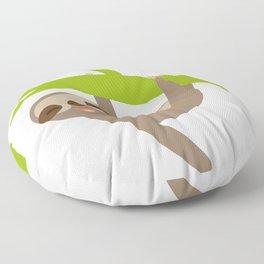 funny sloth Floor Pillow