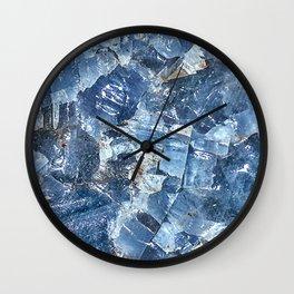 Blue Calcite Wall Clock