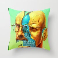 breaking Throw Pillows featuring Breaking Bad / Broken Bad by Mirco