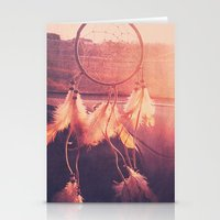 dream catcher Stationery Cards featuring Dream Catcher by Whitney Retter