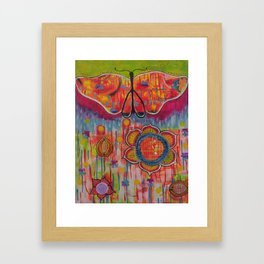 """With these wings I can Fly"" Original painting by Toni Becker, Artfully Healing Framed Art Print"
