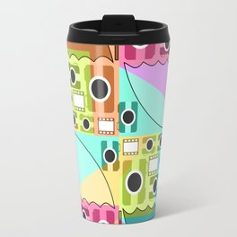 Camera pattern with colorful umbrellas Travel Mug