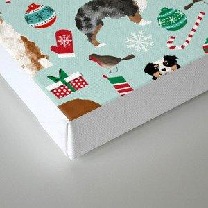 Australian Shepherd christmas festive holiday dog breed gifts for holidays Canvas Print