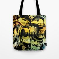 twins Tote Bags featuring twins by clemm