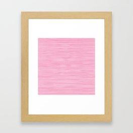 Pink knitting pattern Framed Art Print