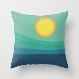 Abstract Landscape - Blue Mountains Throw Pillow