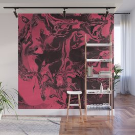 Pink and black  Marble texture painting art Wall Mural