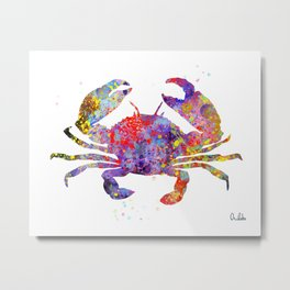 Sea Crab Print Metal Print