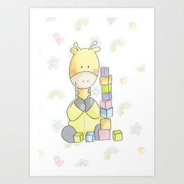 Giraffe Art Print