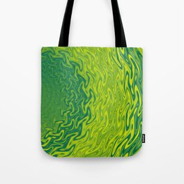 Ripples Fractal in Greens Tote Bag