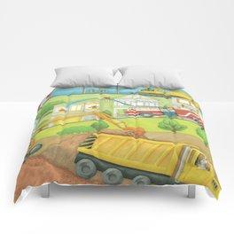 Trucks at Work Comforters