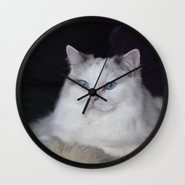 Ragdoll Cat Her Majesty Wall Clock