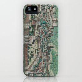 Vintage Map of Jerusalem, Nazareth and Rame Israel iPhone Case