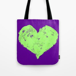 Feel in Watercolour: Violet/Green Tote Bag