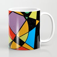 kandinsky Mugs featuring Abstract #130 by Ron Trickett