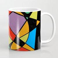 kandinsky Mugs featuring Abstract #130 by Ron Trickett (Rockett Graphics)