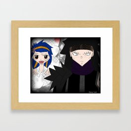 Gajeel x Levy Framed Art Print