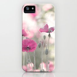 #Natural #wonder #pink #Poppy #flower in #midsummer iPhone Case