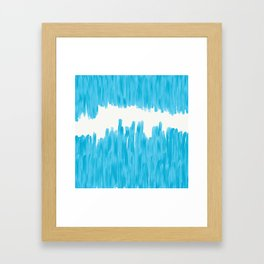Sea of Blue Painted Framed Art Print