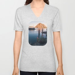 First Light on Morro Rock Unisex V-Neck
