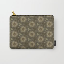 Brown Ancient Circles Pattern Carry-All Pouch