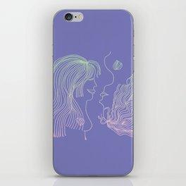 Girl and Girl iPhone Skin