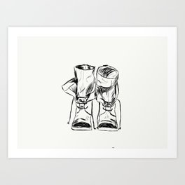 Boots Made For Walking Art Print