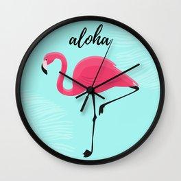 Aloha / Flamingo Wall Clock