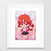 chibi Framed Art Prints featuring Chibi Hikaru by Neo Crystal Tokyo