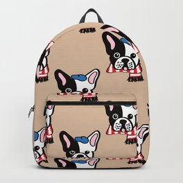 French Bulldog in Camel Baguette Backpack