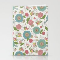 manchester Stationery Cards featuring Manchester floral by Silvia Dekker