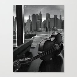 Viola in Black and Whiter Canvas Print