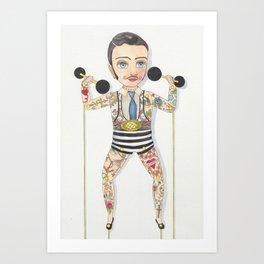 Circus strong man Art Print