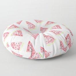 Watercolor Watermelon Pattern Floor Pillow