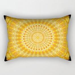 Golden Disc of Secrets Mandala Rectangular Pillow
