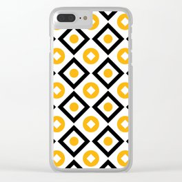 Sun yellow pattern of rhombuses and circles Clear iPhone Case