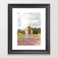 Sea Lavender Framed Art Print