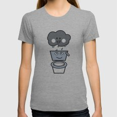 thirsty Womens Fitted Tee Athletic Grey SMALL