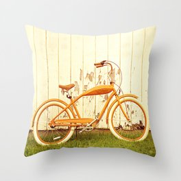 Orange Ride Throw Pillow